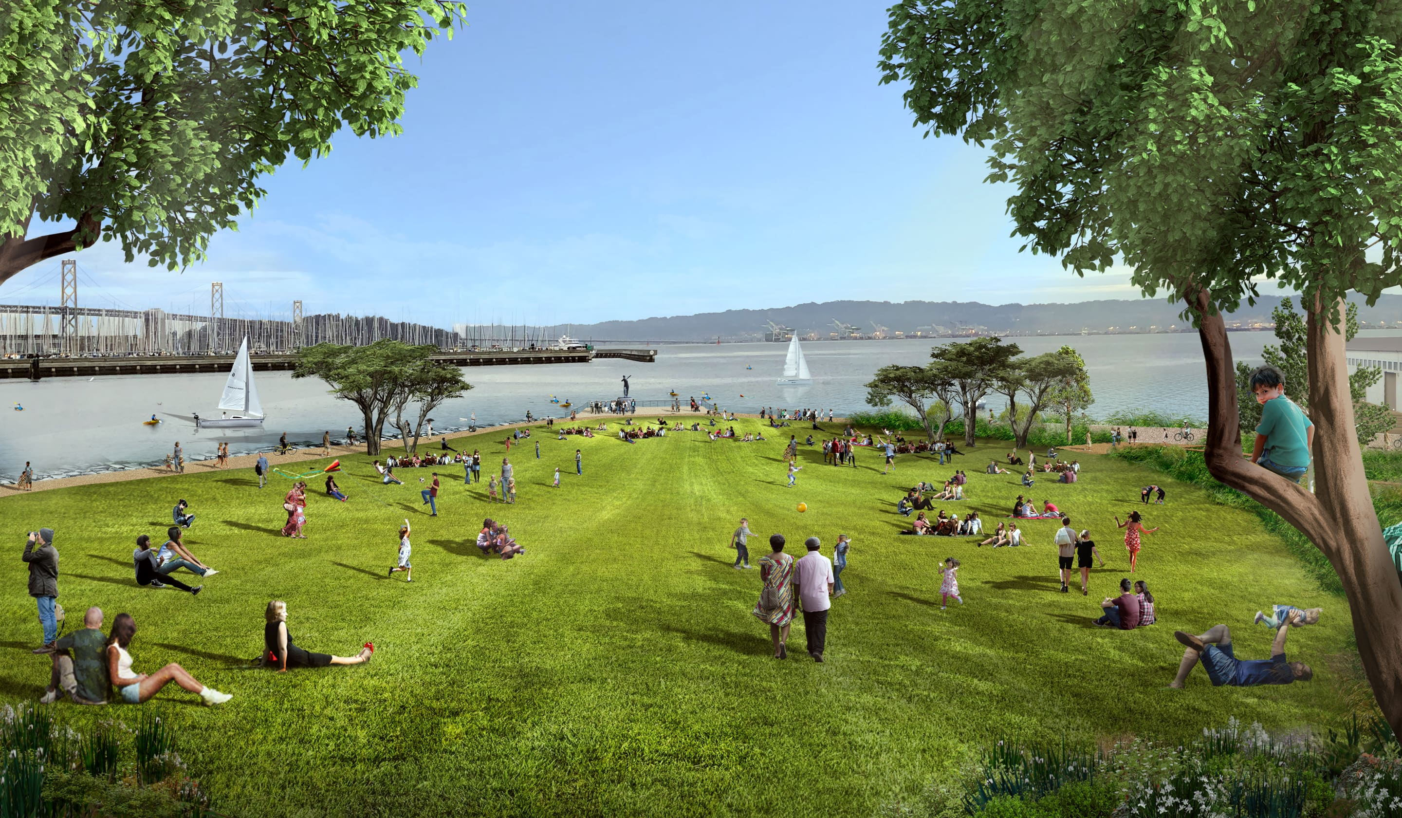 Great Lawn – Daytime at China Basin Park